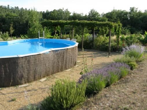 Chambre d'hote Vaucluse - piscine entourée de collines à perte de vue