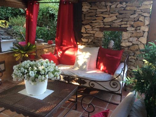 Chambre d'hote Bouches du Rhône - La terrasse et son salon