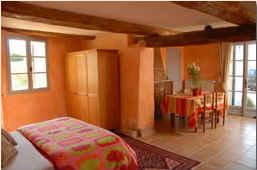 Chambre d'hote Vaucluse - Studio Roussillon