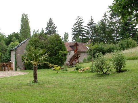 Chambre d'hote Indre-et-Loire - vue parc côté chambres d'hôtes