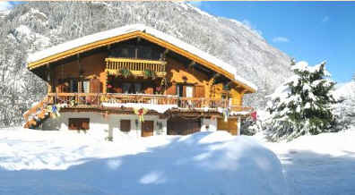 Chambre d'hote Haute-Savoie - Le chalet en hiver