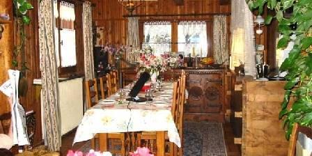 Chambre d'hotes Chalet a l'orée du bois > La salle à manger