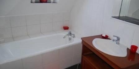 Les 2 pépinières La salle de bains de la chambre rouge