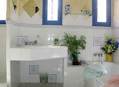 Chambre d'hote Pyrénées-Orientales - La salle de bains Mimosa