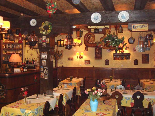 l'intérieur du caveau, winstub,restaurant au coeur de l'Alsace