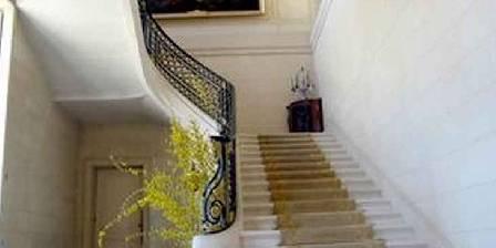 Château de Craon L'escalier d'honneur, marbre et fer forgé