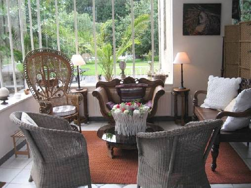 bed & breakfast Finistère - One of the lounges in the conservatory