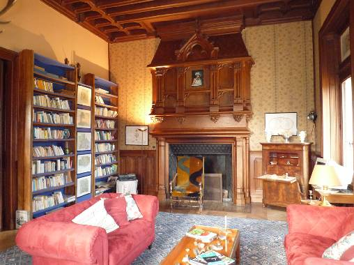 bed & breakfast Indre - the library