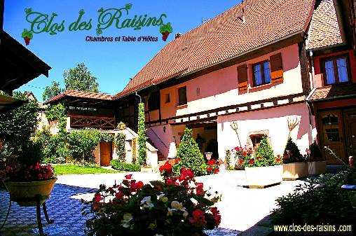 bed & breakfast Haut-Rhin - clos des raisins bed and breakfast in alsacer