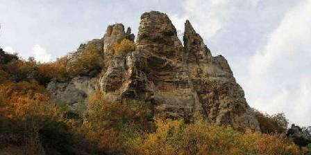 Domaine de Sagnol Les falaises de Gigors