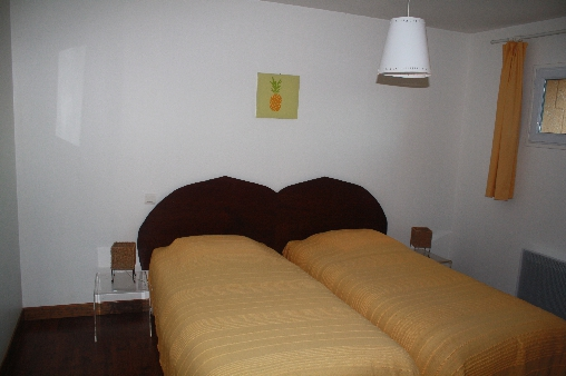 chambre  2 lits appartement