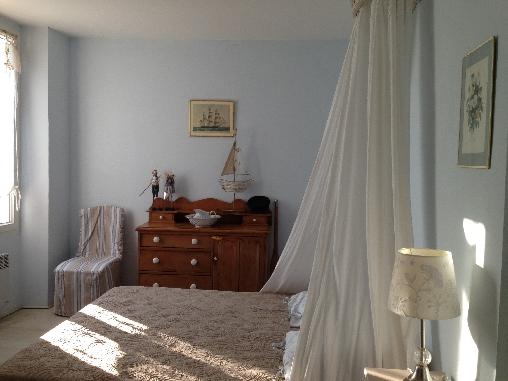 Chambre bleu onde