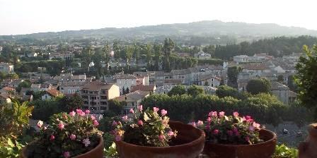 L'Evéché The view to Vaison la romaine