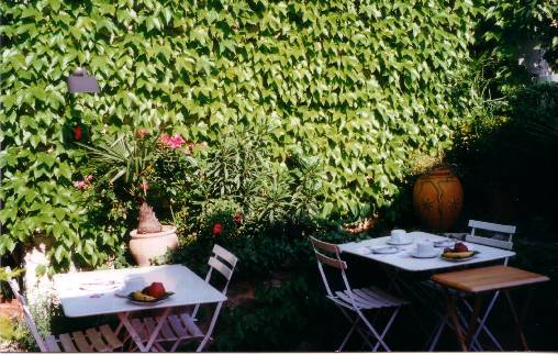 bed & breakfast Vaucluse - the terrace