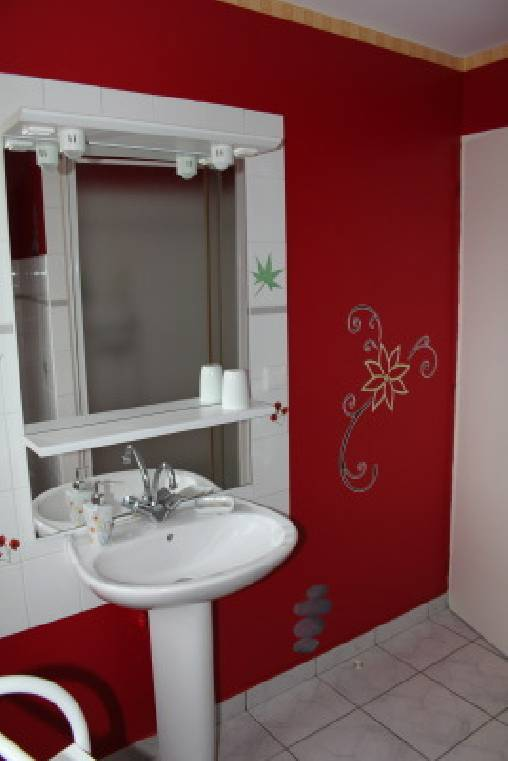 Un coin déco de la salle de bains Zen de Fanny