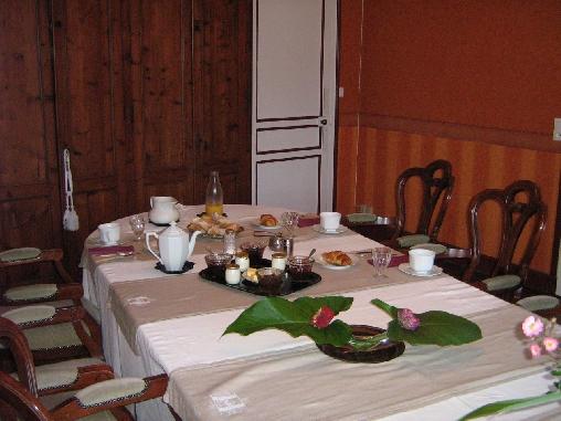 la salle des petit-déjeuners