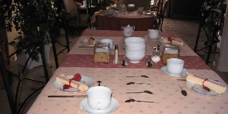 Les Hautes Gatinières La table du petit déjeuner