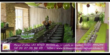 Gîtes les Beaux Matins Morbihan gite mariage anniversaire fete famille