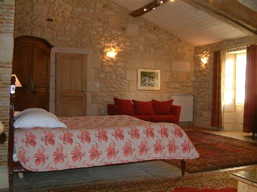 bed & breakfast Gironde - Beau Séjour The Red Room 45m²