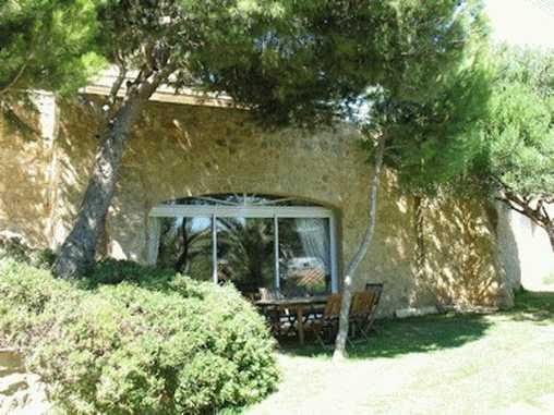 La terrasse de la chambre Bois Flotté