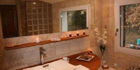 Au Bois de Lune Salle de bain de la chambre Bali