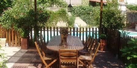 La Toast Vin La terrasse au bord de la piscine