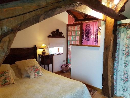 La chambre Amarante du domaine de Millox