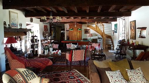 Chambre d'hote Landes - domaine de Millox, séjour cheminée  et billard