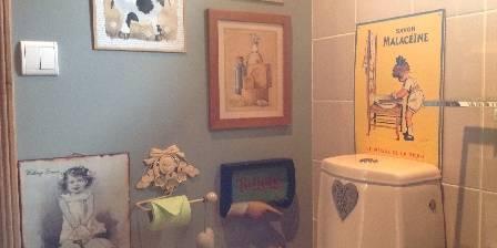 L'Angelerie - BnB Bio à Deauville Salle de bain Cœur d' Art -i-Chaud