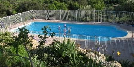 Gite Le mas des Rabasses > vue sur la piscine