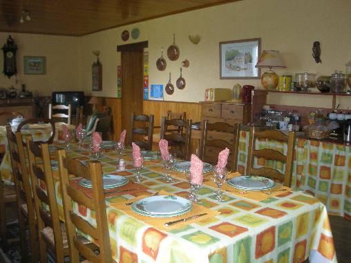 Chambre d'hote Finistère - salle à manger