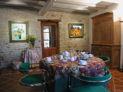bed & breakfast Charente-Maritime - the dinning room
