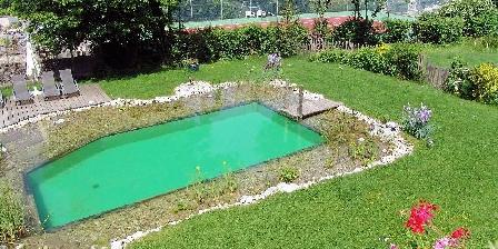 La Jument Verte Chambres d'hôtes La piscine naturelle et le tennis