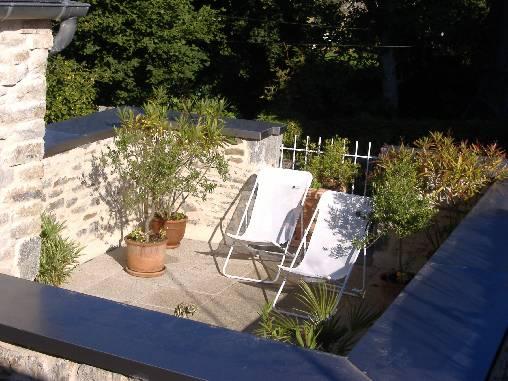 Chambre d'hote Ille-et-Vilaine - La terrasse donnant sur le jardin de curé
