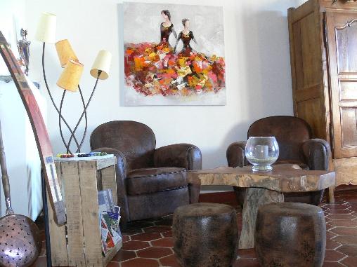 Chambre d'hote Cantal - Salon