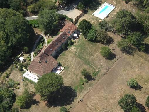 Chambre d'hote Dordogne - vue aérienne