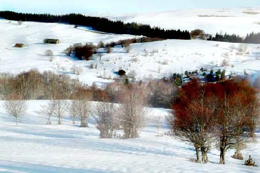 La Croix Longue - Aveyron et ses beaux paysages en hiver