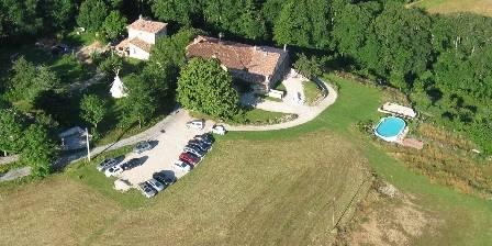 Chambre d'hotes Domaine de l'Abéale > Vue aérienne du Domaine