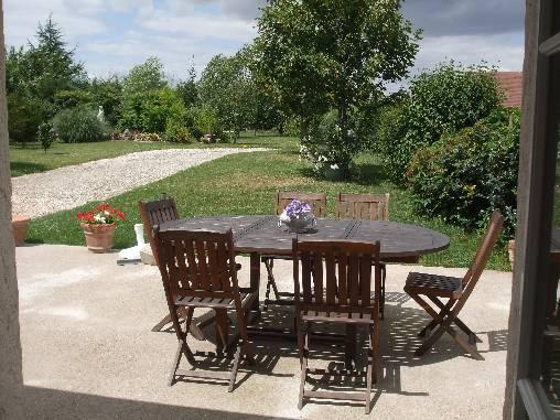 Chambre d'hote Indre-et-Loire - Terrase et jardin