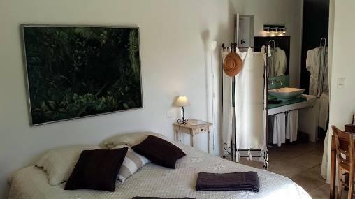 Les Terrasses - Gordes : chambre Jade