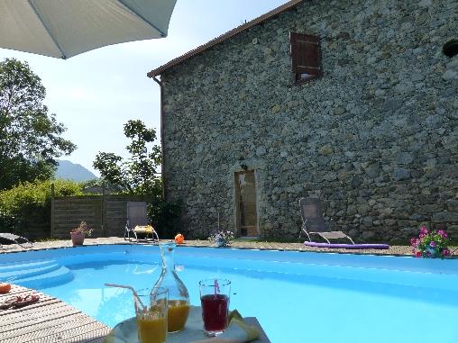 Chambre d'hote Ariège - la piscine chauffée