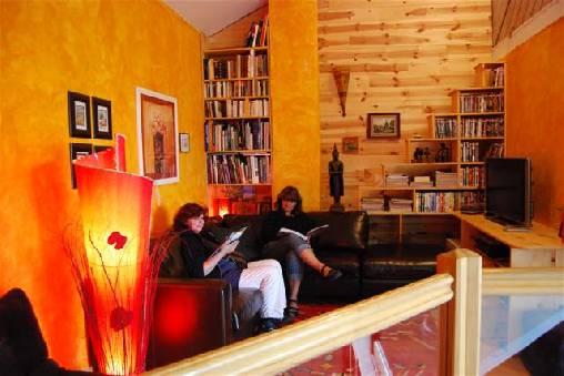 Chambre d'hote Haute-Loire - salon de lecture