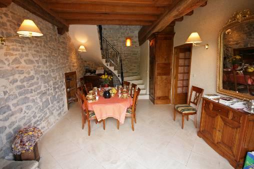 Chambre d'hote Saône-et-Loire - salle des petits dejeuners