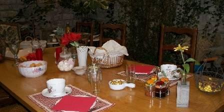 Les Coquelicots Petit déjeuner au jardin d'hiver