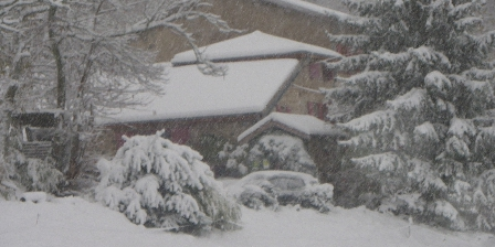 Maison d'hôtes de la Verrière La Verrière sous la neige