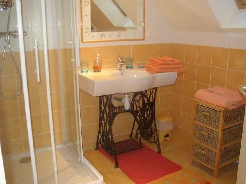 Chambre d'hote Manche - salle de bain soleil