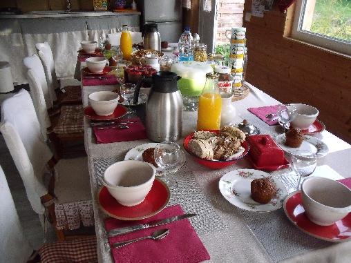 Chambre d'hote Manche - petit déjeuner à la française