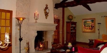 Bergerie de Fuissé Salon avec cheminée