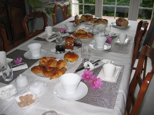 table des petits déjeuner