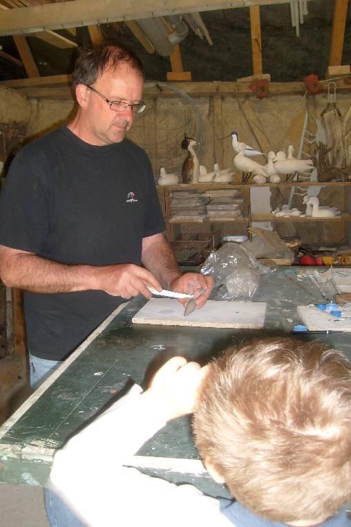 Initiation à la sculpture par Michel Gobert